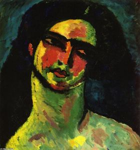 Alexej-Georgewitsch-Von-Jawlensky-Head-of-An-Italian-Woman-witih-Black-Hair-from...-from-the-Front-S